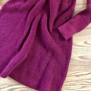 American Eagle Outfitters Sweaters - American Eagle Merlot Chevron Sweater Dress